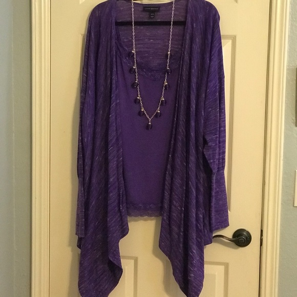 Lane Bryant Sweaters - Lane Bryant Sweater, Cami & Necklace (3pieces)
